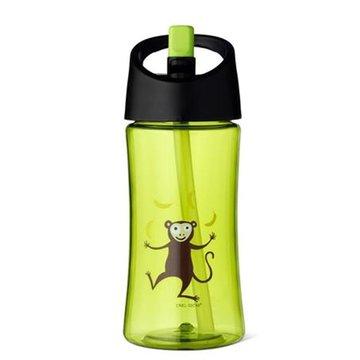 Carl Oscar Transparentny bidon ze słomką 350 ml Lime - Monkey CARL OSCAR