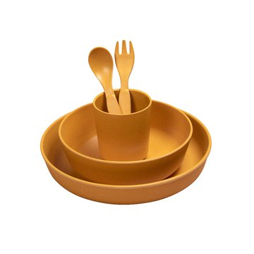 Filibabba Bambusowy zestaw obiadowy Golden Mustard FILIBABBA