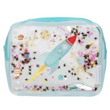 A Little Lovely Company - Lśniąca kosmetyczka GLITTER Kosmos