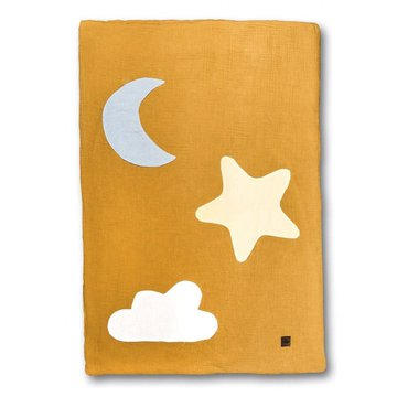 Hi Little One - kocyk muslinowy/ kołderka Day & Night Mustard
