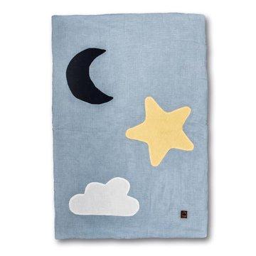Hi Little One - kocyk muslinowy/ kołderka Day & Night Baby Blue