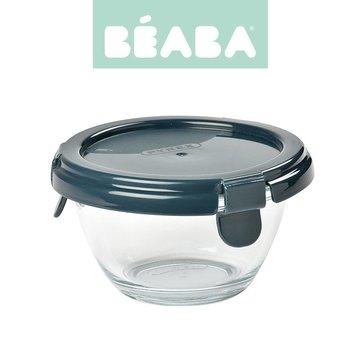 BEABA Okrągły pojemnik słoiczek szklany Pyrex z hermetycznym zamknięciem 200 ml dark blue Beaba