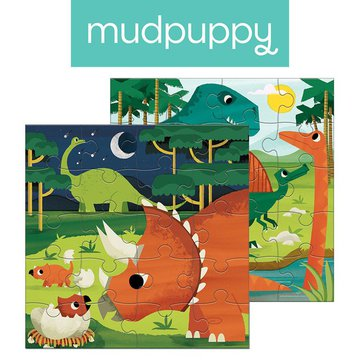 Mudpuppy Puzzle magnetyczne Dinozaury 4+