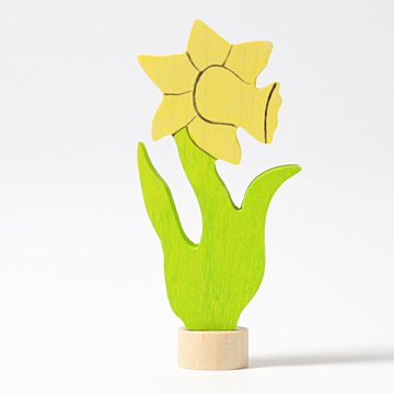 Drewniana figurka, Kwiat Narcyz, Grimm's