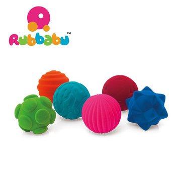Rubbabu Zestaw 6 sensorycznych piłek z delikatną fakturą
