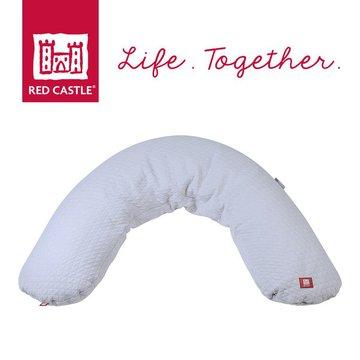 Ergonomiczna poduszka rogal dla kobiet w ciąży i karmiących Big Flopsy Fleur de coton Pearl grey, Red Castle