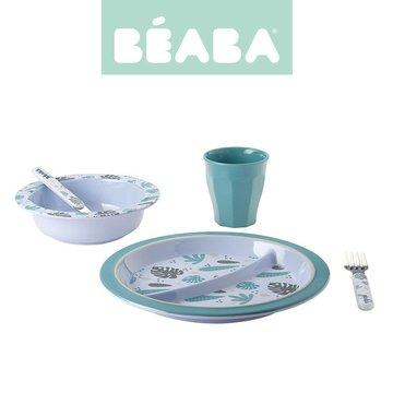 Beaba Komplet naczyń z melaminy Jungle