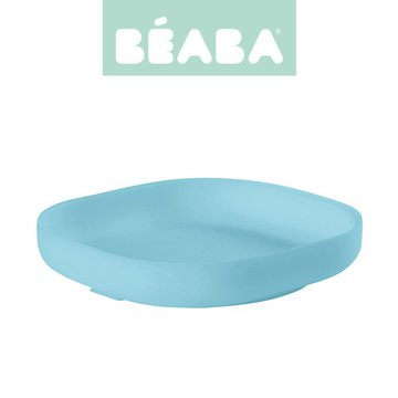 Beaba Silikonowy talerzyk z przyssawką blue
