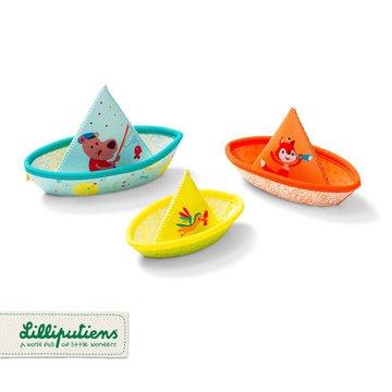 LILLIPUTIENS 3 łódeczki do kąpieli 6 m+ Lilliputiens