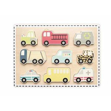 Drewniane puzzle pojazdy JABADABADO JaBaDaBaDo
