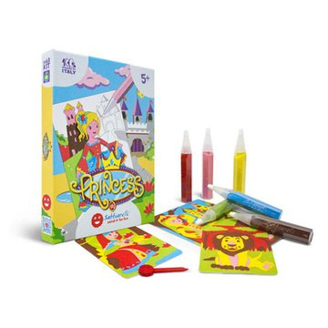 Sabbiarelli - Magiczny Piasek do Kolorowania, Mini Kit, Księżniczki, 5l+