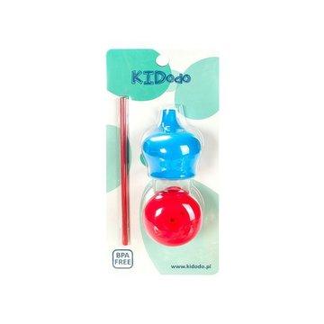 KIDodo - Zestaw Silikonowych Nakładek na Kubki, Niebieska + Czerwona, 9m+
