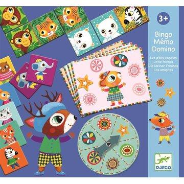 Djeco - Gry edukacyjne: BINGO-MEMO-DOMINO DJ08131
