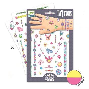 Djeco - Tatuae neonowe KLEJNOTY JENNI DJ09587
