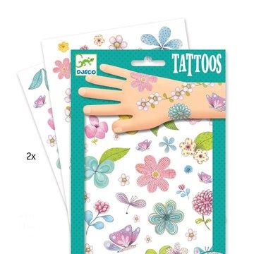 Djeco - Tatuae brokatowe KWIATY DJ09585