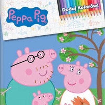 Media Service Zawada - Świnka Peppa. Dodaj kolorów! Rodzinka Świnki Peppy