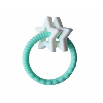 Jellystone Designs - Gryzak dla dziecka Gwiazdki, miętowy, Jellystone Design