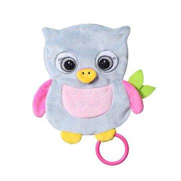 BABYONO - 446 Przytulanka dla niemowląt FLAT OWL CELESTE FLAT FELLOWS