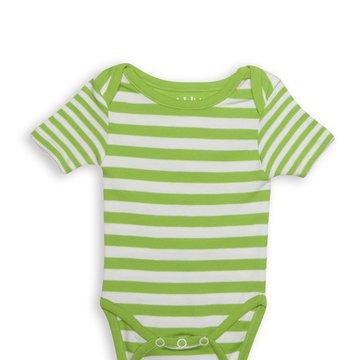 Juddlies Body Greenery Stripe 6-12m