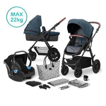 Kinderkraft Wózek Wielofunkcyjny 3w1 XMOOV Denim