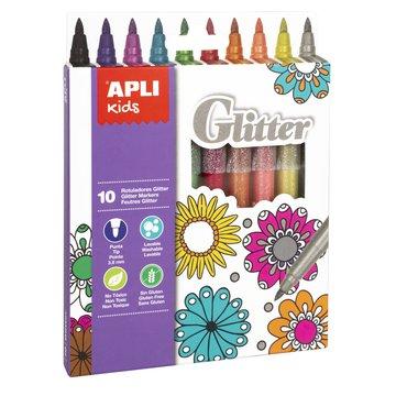 Flamastry brokatowe Apli Kids - 10 kolorów