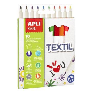 Flamastry tekstylne Apli Kids - 10 kolorów