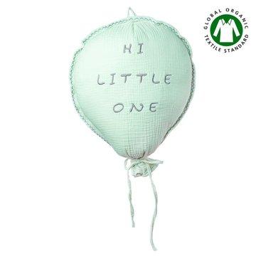 Hi Little One - Poduszka dekoracyjna z organicznego oddychającego BIO  muślinu GOTS BALOON MINT