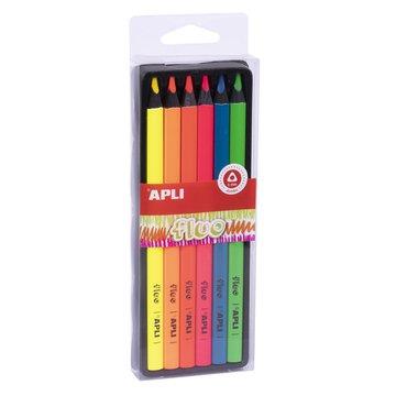 Kredki ołówkowe Jumbo Apli Kids - Fluo