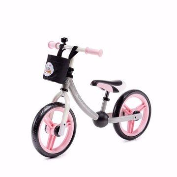 Kinderkraft Rowerek Biegowy 2WAY Next Light Pink Z Akcesoriami