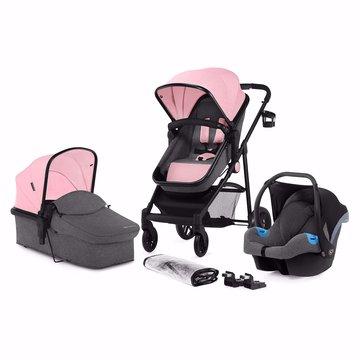 Kinderkraft wózek wielefunkcyjny 3w1 JULI pink