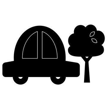 Tablica naklejka kredowa Apli Kids - Samochód