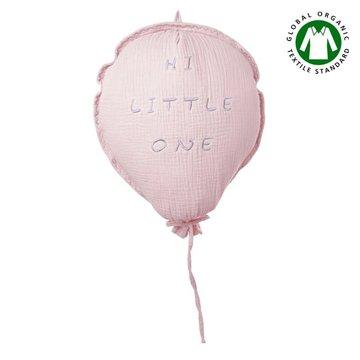Hi Little One - Poduszka dekoracyjna z organicznego oddychającego BIO  muślinu GOTS BALOON BLUSH