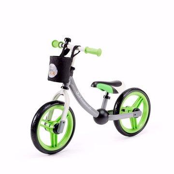 Kinderkraft Rowerek Biegowy 2WAY Next Green/Gray Z Akcesoriami