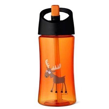 Carl Oscar Transparentny bidon ze słomką 350 ml Orange - Moose CARL OSCAR