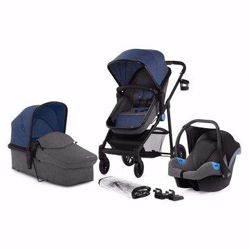 Kinderkraft Wózek Wielefunkcyjny 3w1 JULI Denim