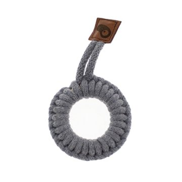 Hi Little One - gryzak sznurkowy Ring Teether wood and cotton Grey