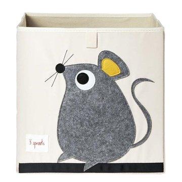 3 Sprouts Pudełko na Zabawki Myszka