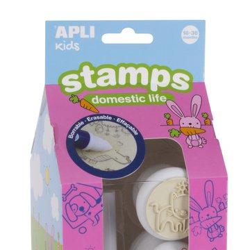 Pierwsze stempelki z markerem Apli Kids - Zwierzęta 18m+