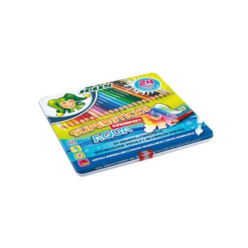 Jolly - Kredki Supersticks Aqua 24 kolory w metalowym pudełku