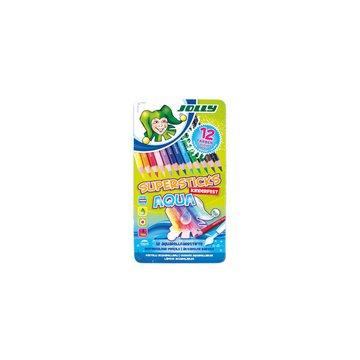 Jolly - Kredki Supersticks Aqua 12 kolorów w metalowym pudełku