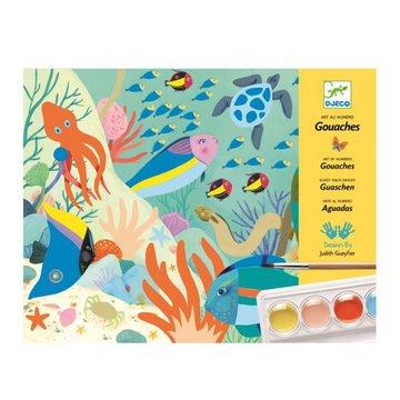 Djeco - Zestaw artystyczny z farbami WIAT NATURY DJ08965