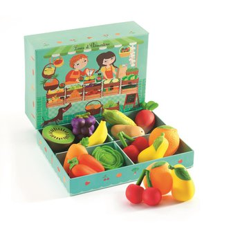 Djeco - Zestaw owocw i warzyw 12 szt  DJ06621