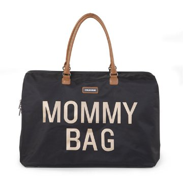 CHILDHOME - Torba Mommy Bag Czarno-Złota