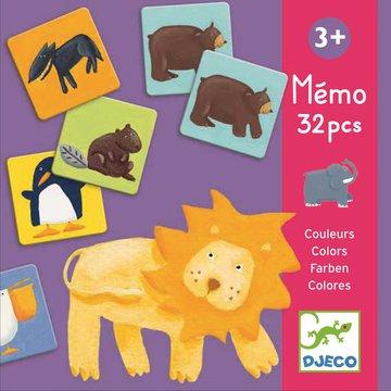 Djeco - Gra pamiciowa kolorowe zwierztka DJ08110