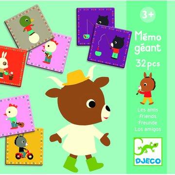 Djeco - Gra edukacyjna Memo Gigant PRZYJACIELE DJ08119