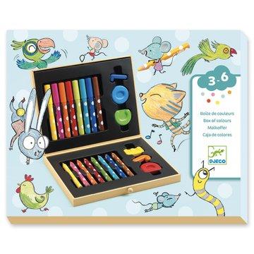 Djeco - Zestaw art. dla maluchw, kredki, mazaki  DJ09010