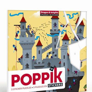 POPPIK - Naklejki - puzzle SMOK I RYCERZ - Wiek 5+