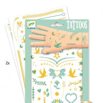 Djeco - Tatuae metaliczne KLEJNOTY LILY DJ09593