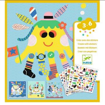 Djeco - Zestaw art. z naklejkami  MORSKIE STWORKI DJ08931