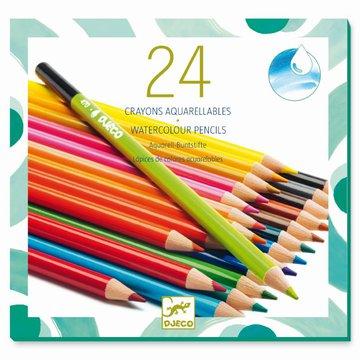 Djeco - Zestaw kredek akwarelowych 24 kolory DJ09754